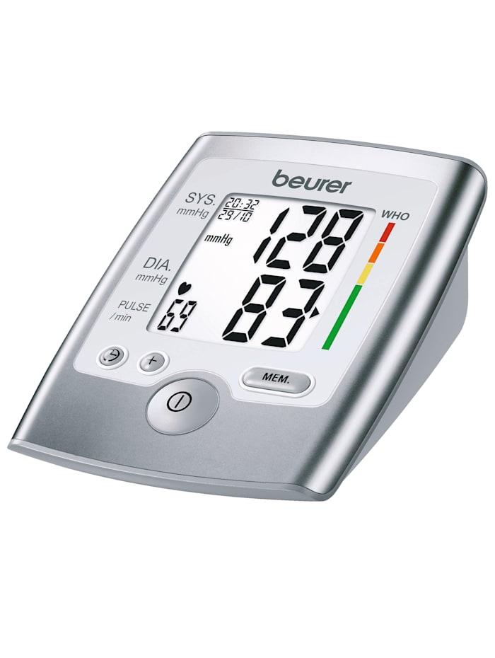 "Beurer Oberarm-Blutdruckmessgerät ""BM 35"" mit Blutdruck- & Arrhythmieerkennung, grau"