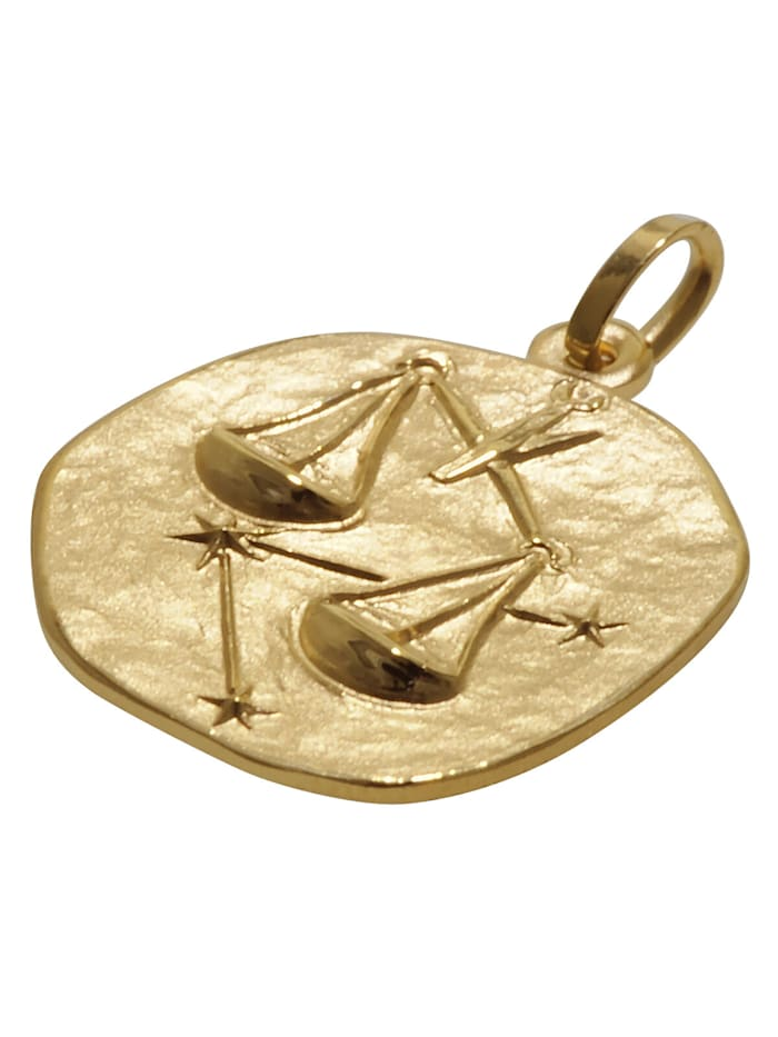 Sternzeichen für Kinder Waage Gold 333 Anhänger + Halskette