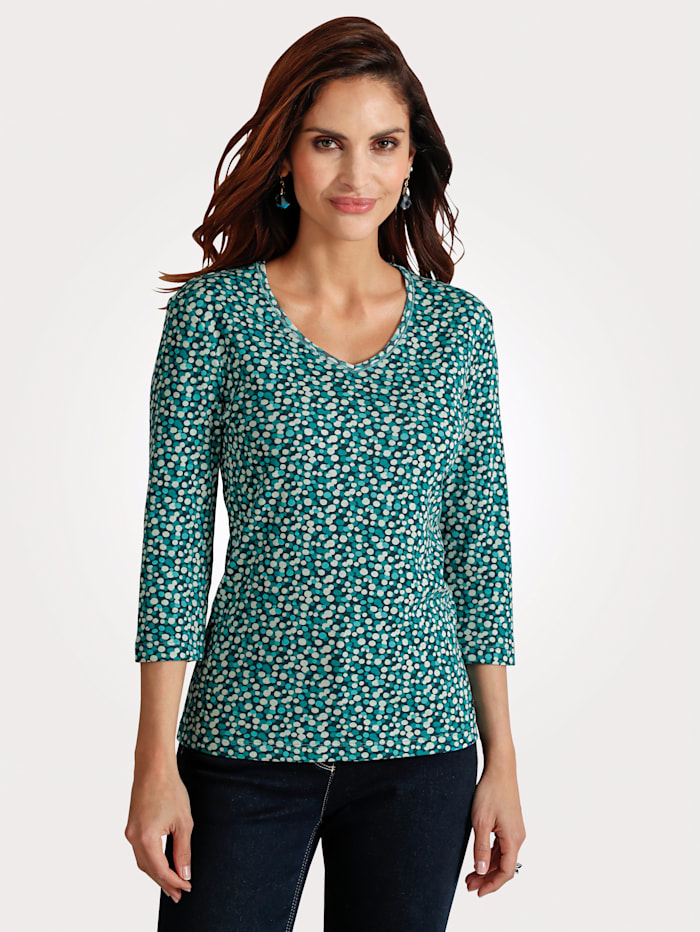 Olsen T-shirt en pur coton, Émeraude