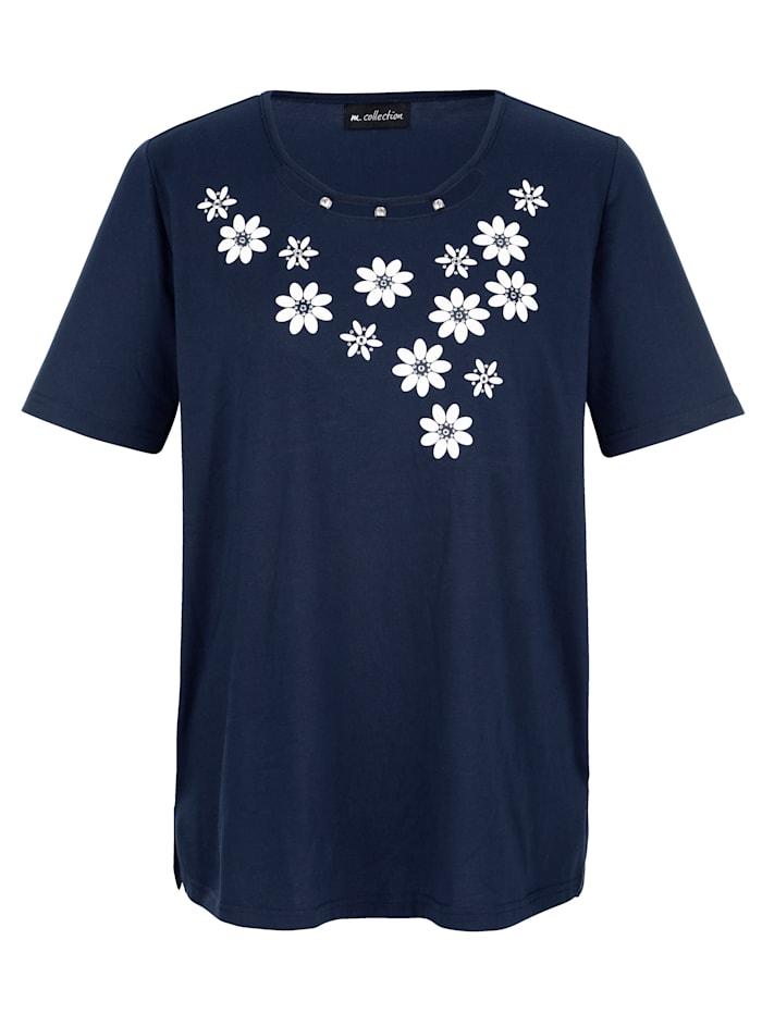 Shirt met 3D bloemmotieven