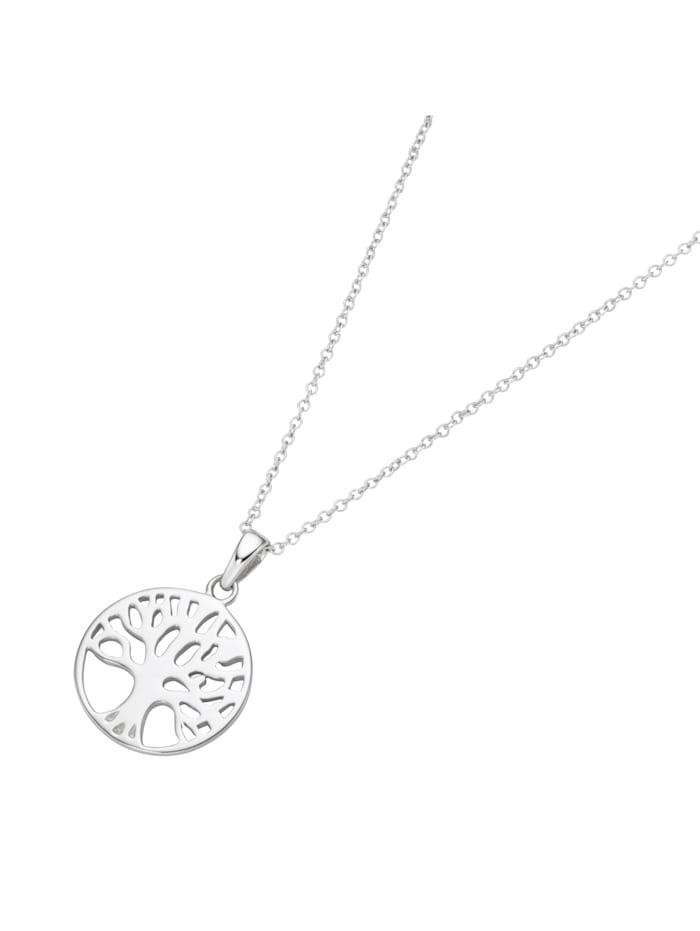 Smart Jewel Kette Lebensbaum, Karte, Silber 925, Silber