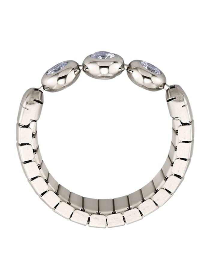 Dámský prsten se syntetickým zirkonem