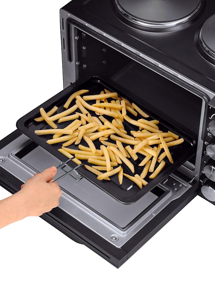 Four de cuisson et de grillage avec 2 plaques chauffantes TO 2065, broche rotative, espace de cuisson de 30 litres, minuterie