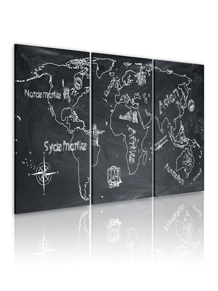 artgeist Wandbild Neugieriger Reisender (Schwedisch), Weiß,Grau