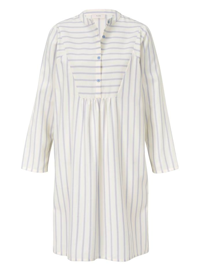 PLUTO Flanell Nachthemd, Creme-Weiß