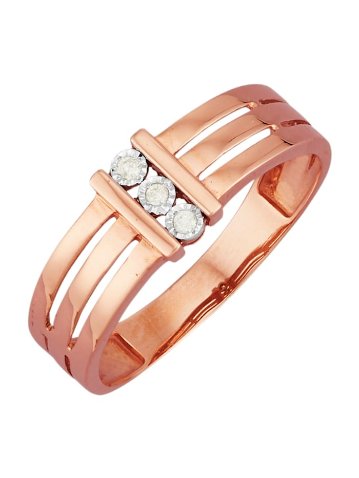 AMY VERMONT Damenring mit Diamanten, Roségoldfarben