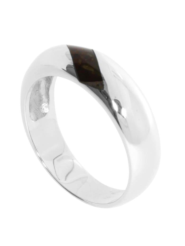 OSTSEE-SCHMUCK Ring - Malte - Silber 925/000 - Bernstein, silber