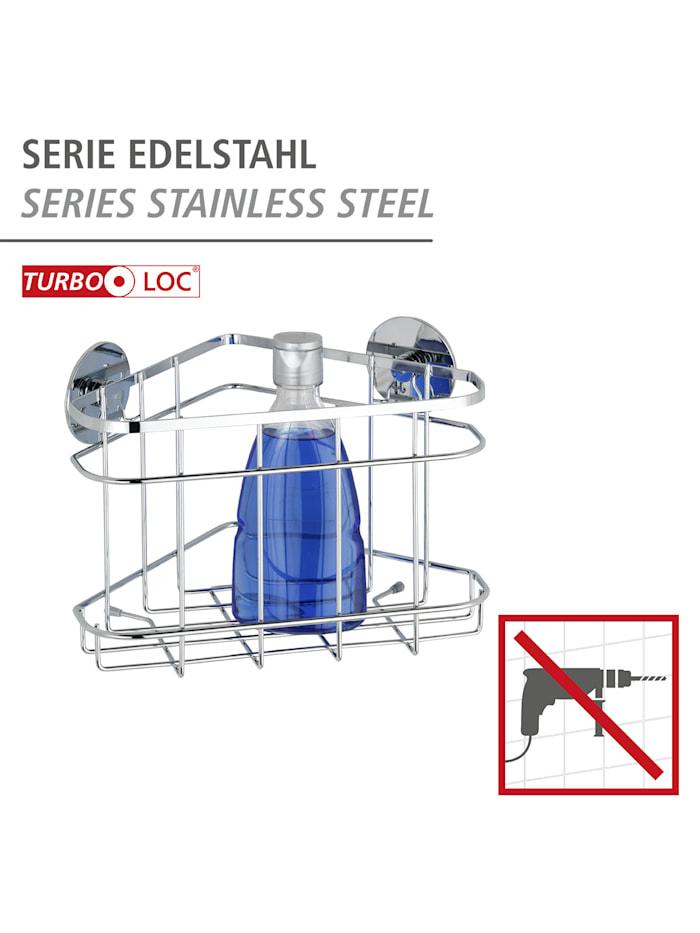 Turbo-Loc® Edelstahl Eckablage, rostfrei, Befestigen ohne bohren