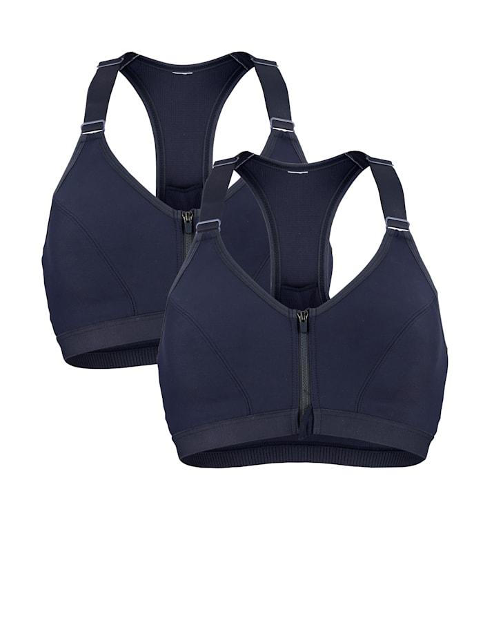 Blue Moon Sport-bh voor optimaal comfort bij lichte activiteiten, Nachtblauw