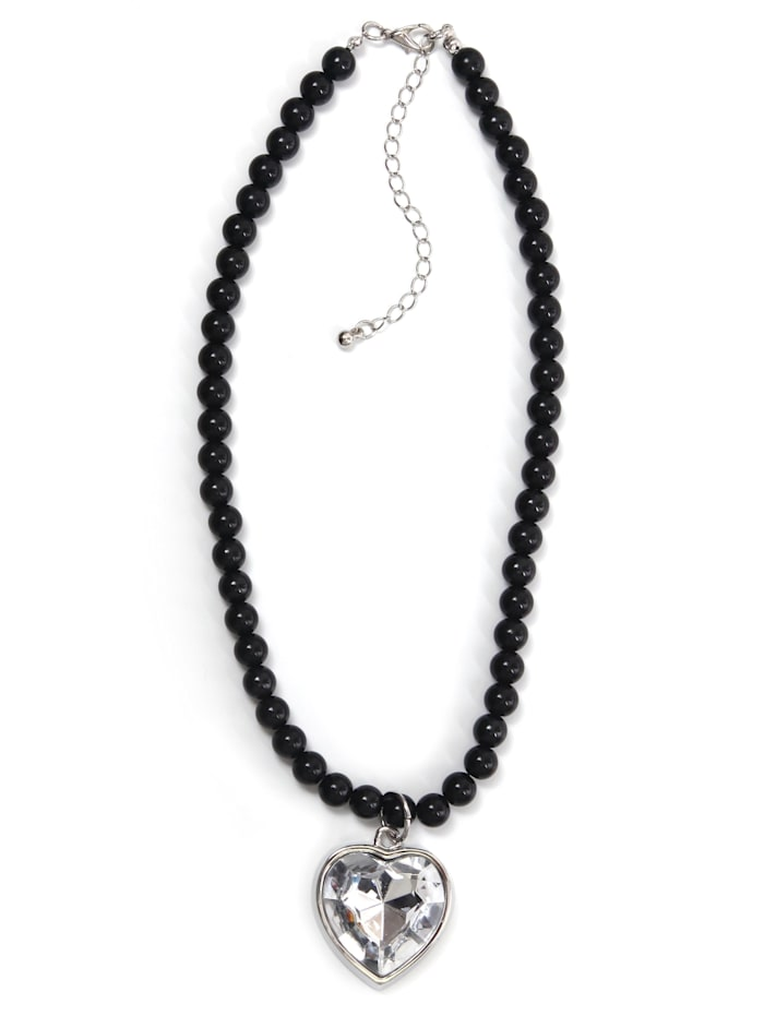 Allgäu Rebell Trachtenkette Sissi mit Herzanhänger, schwarz