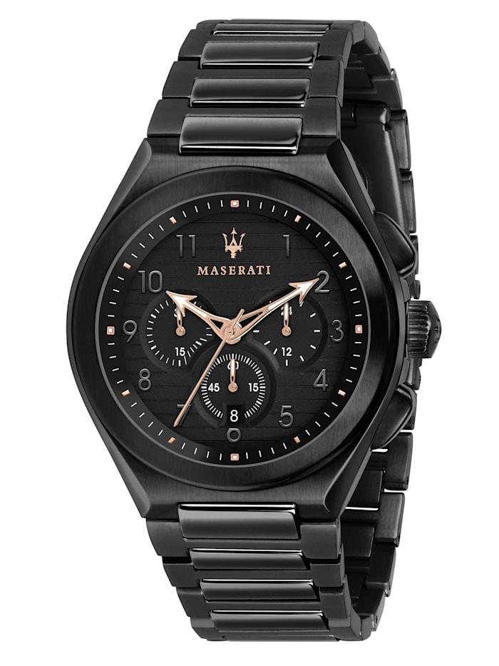 Maserati Uhr HAU, Triconic 43mm, schwarz