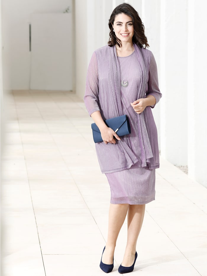 m. collection Jurk in 2-in-1-look, Lila