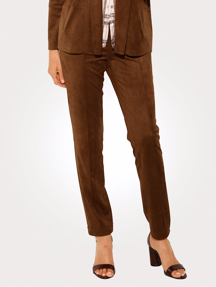 Trousers made from soft faux leather