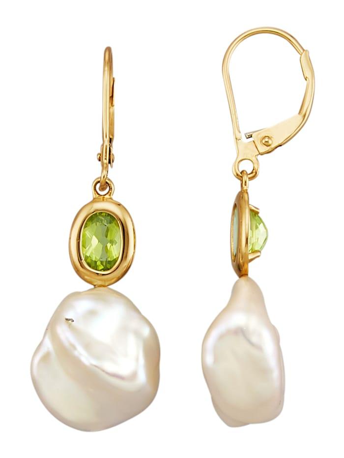 AMY VERMONT Boucles d'oreilles avec perles de Keshi, Blanc