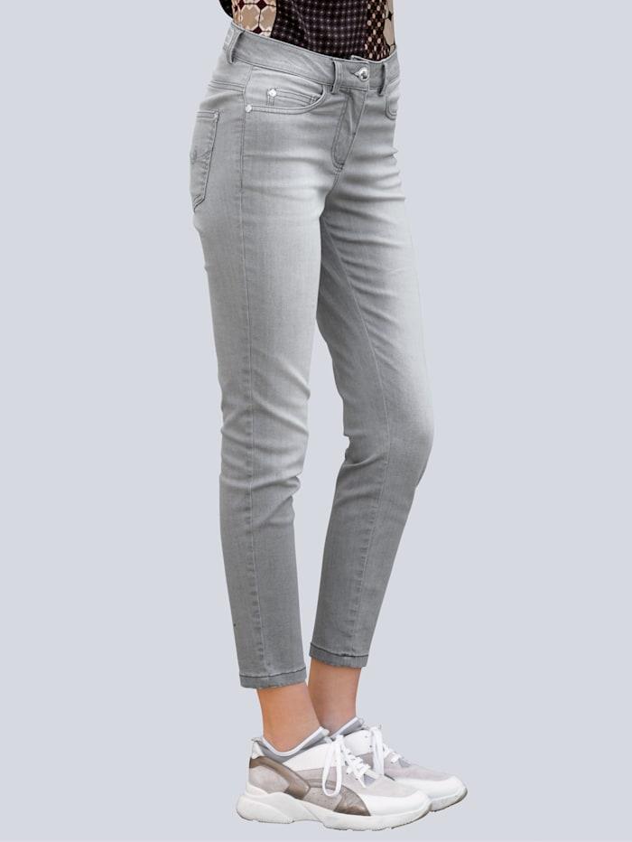 Alba Moda Jeans mit leichter Used-Waschung, Hellgrau