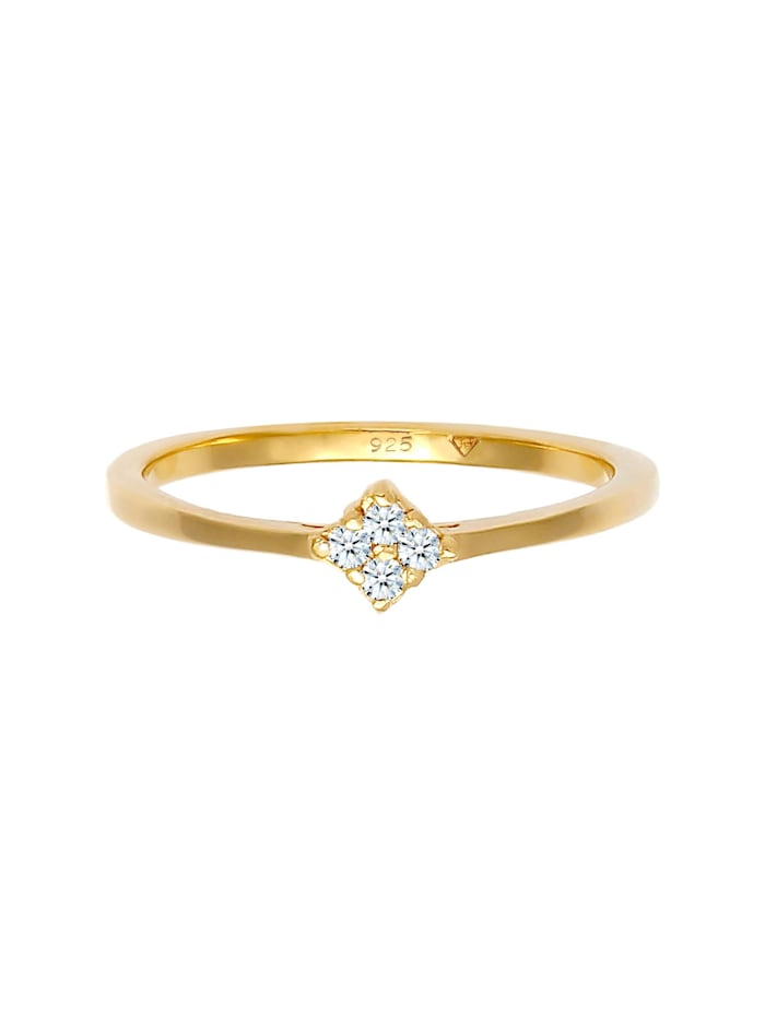 Ring Verlobung Klassisch Diamant 0.06 Ct. 925 Silber