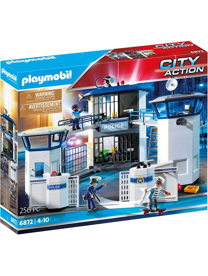 PLAYMOBIL Konstruktionsspielzeug Polizei-Kommandozentrale mit Gefängnis, Bunt