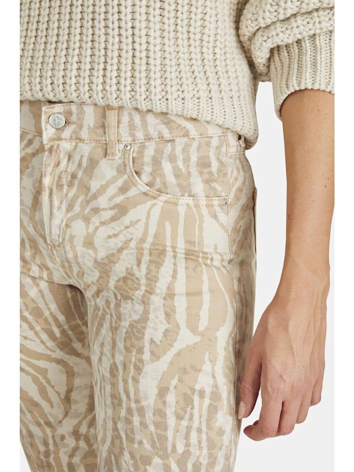 Jeans 'Cici' mit Animalprint