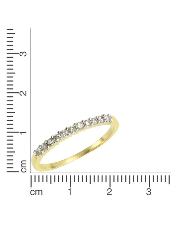 Ring 585/- Gold Brillant weiß Brillant Bicolor 0,25ct. 585/- Gold