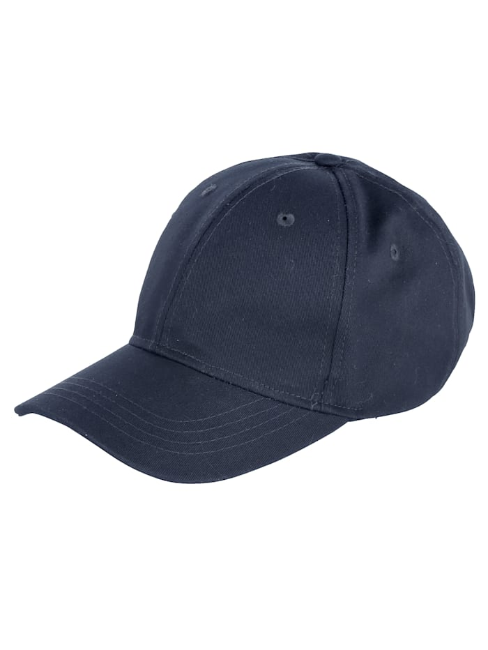 Baseballcap met markante stiksels, marine