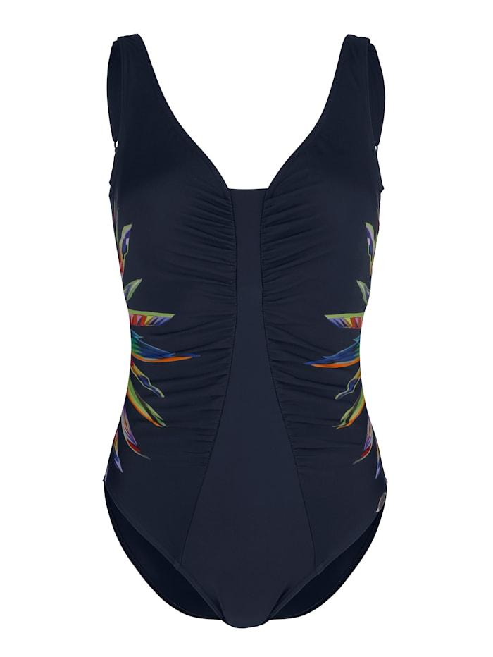 Sunflair Badeanzug mit seitlichem Druck, Blau