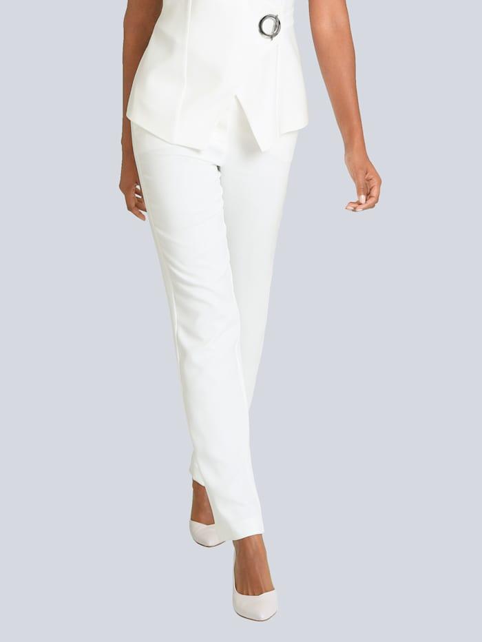 Alba Moda Hose teils mit elastischem Bund, Off-white