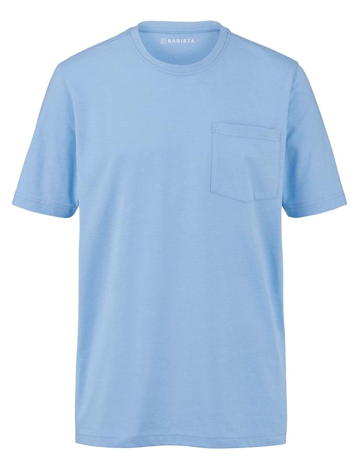 BABISTA T-shirt med bröstficka, Ljusblå