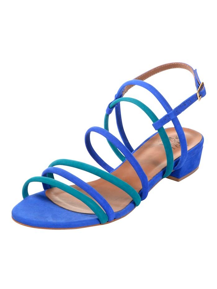CINQUE Sandales à joli jeu de brides, Turquoise