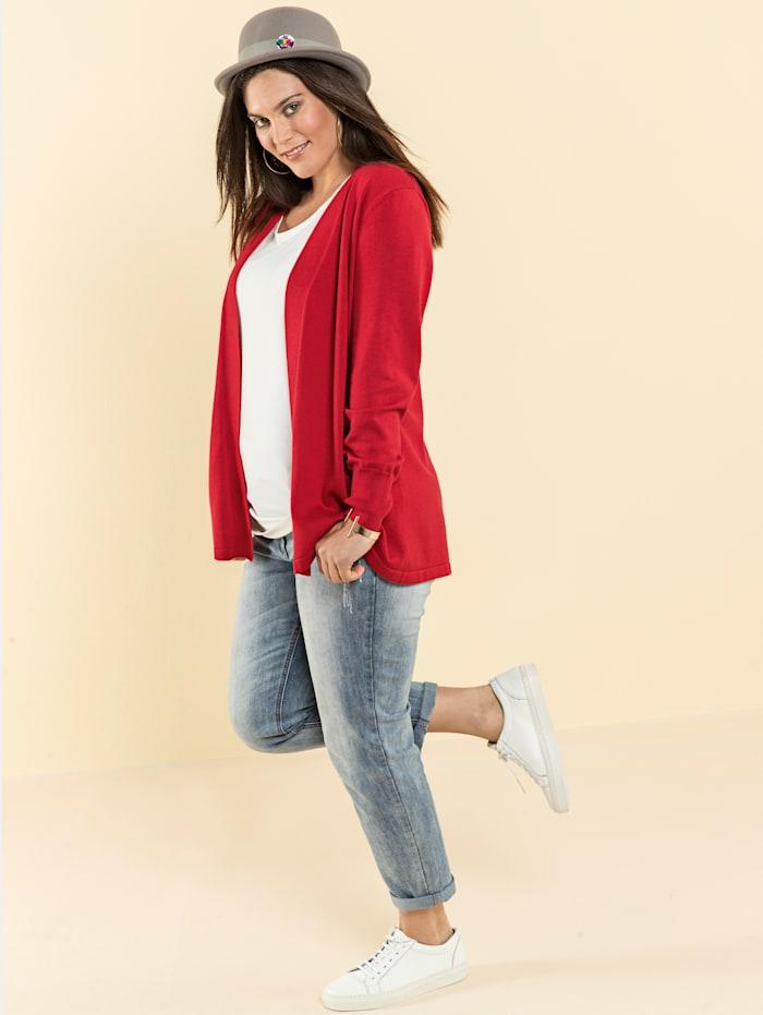 Basic pletený svetr, otevřený střih