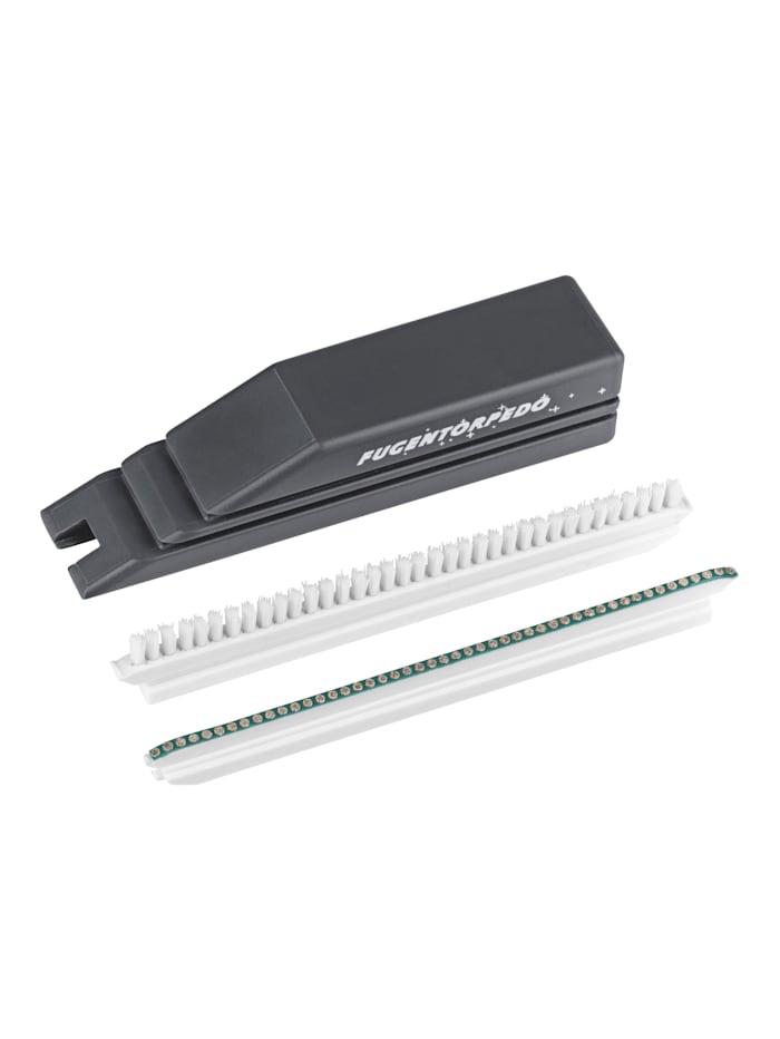 DS Produkte 3tlg. Fugenreinigungs-System 'Fugentorpedo', schwarz/weiß