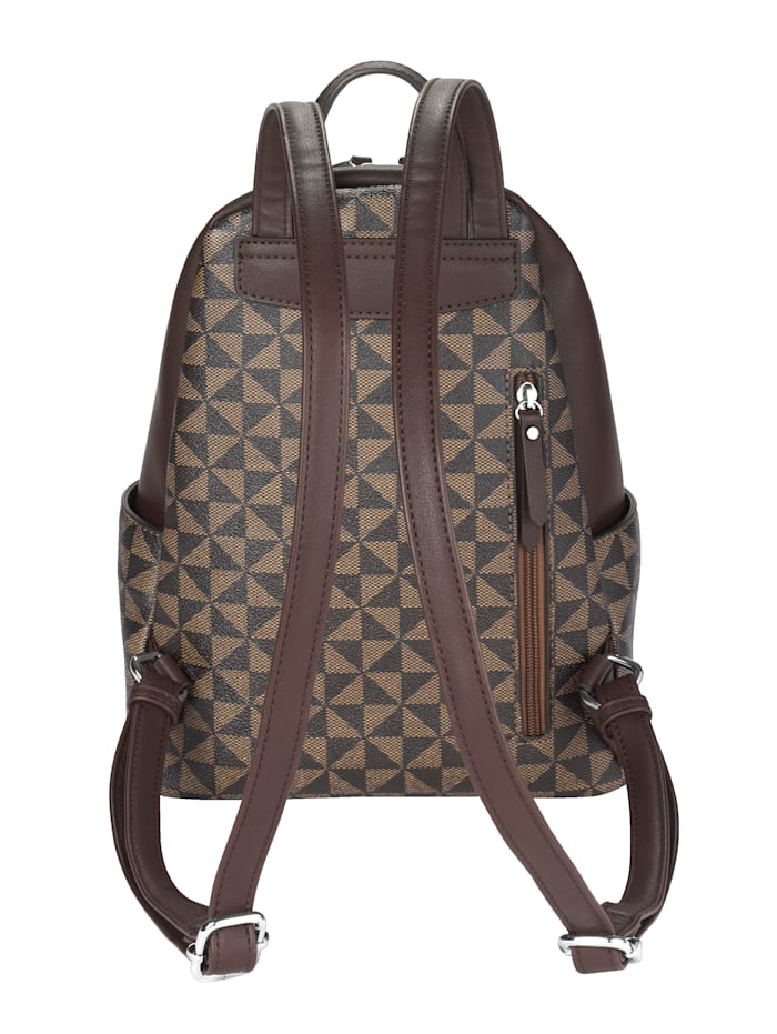 Backpack with a graphic print