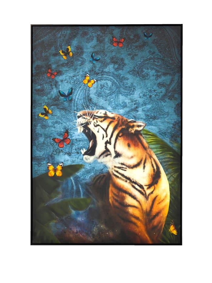 IMPRESSIONEN living Bild, Tiger, Multicolor