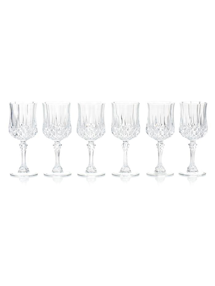 CHRISTAL D'ARQUES Glas-Set, 6-tlg., klar, Weißweinglas-Set
