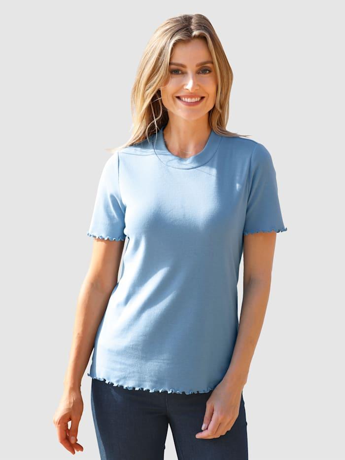 basically you Shirt mit Wellensaum, Eisblau