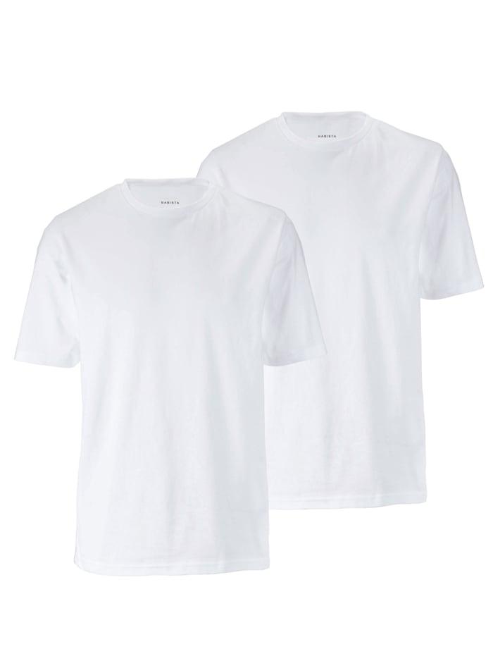 BABISTA T-shirts per 2 stuks met ronde hals, Wit