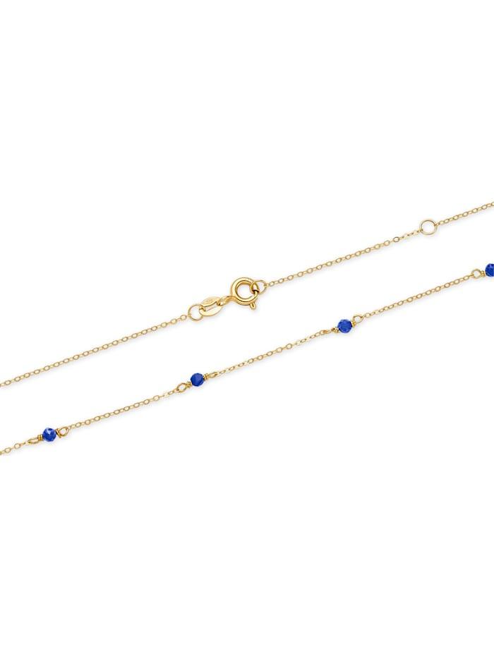 CHRIST Damen-Kette 375er Gelbgold 6 Lapis