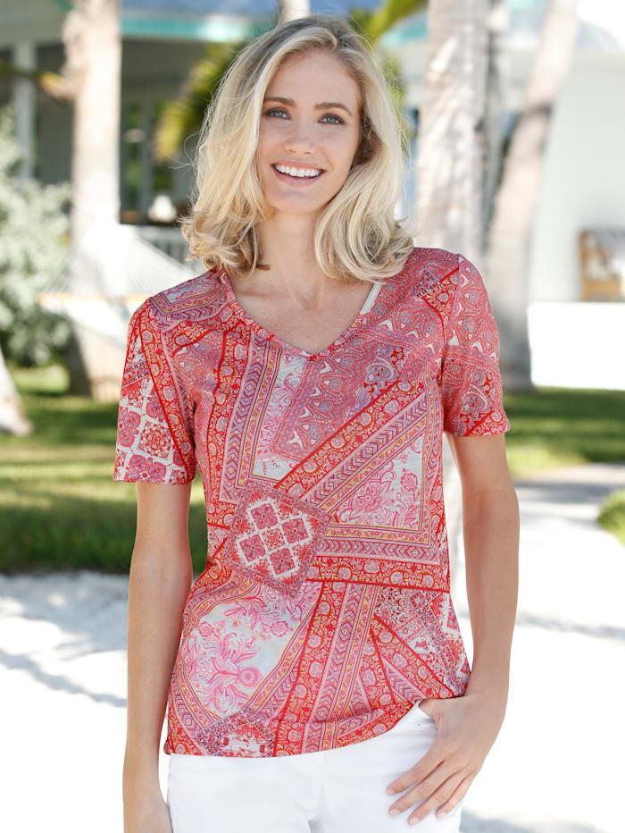 Dress In Shirt mit Paisley, Rosé