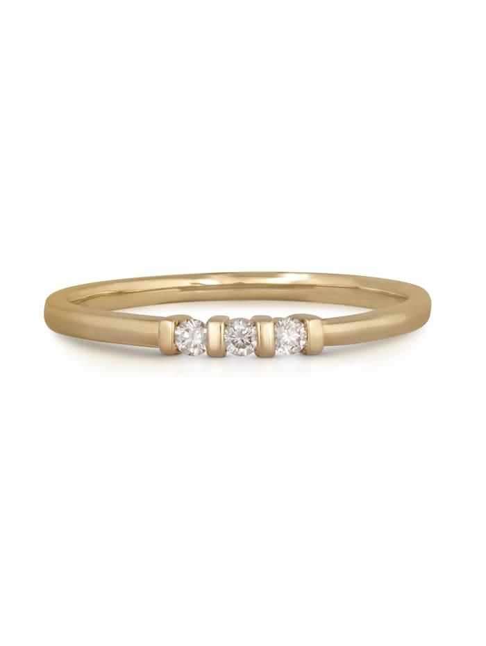 Ring 585/- Gold Brillant weiß Brillant Glänzend 0.09Karat 585/- Gold
