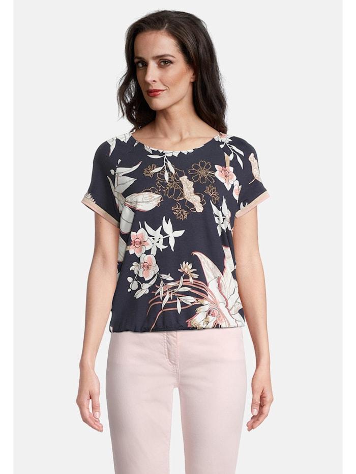Betty Barclay Printshirt mit Gummizug, Dunkelblau