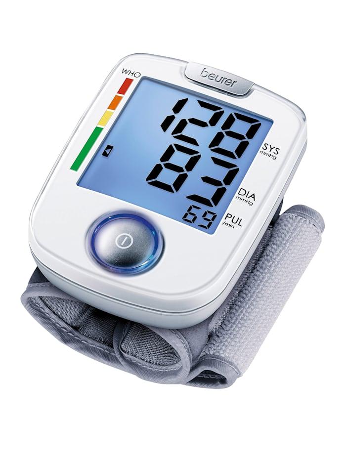 Beurer Blodtrycksmätare för handled BC 44 Enkel att använda!, vit/grå