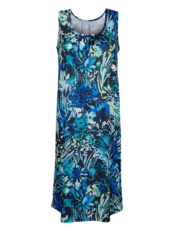 Schwab Bademoden Robe de plage à imprimé mode, Bleu/vert/noir