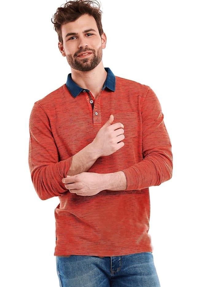 Engbers meliertes Poloshirt, Signalorange