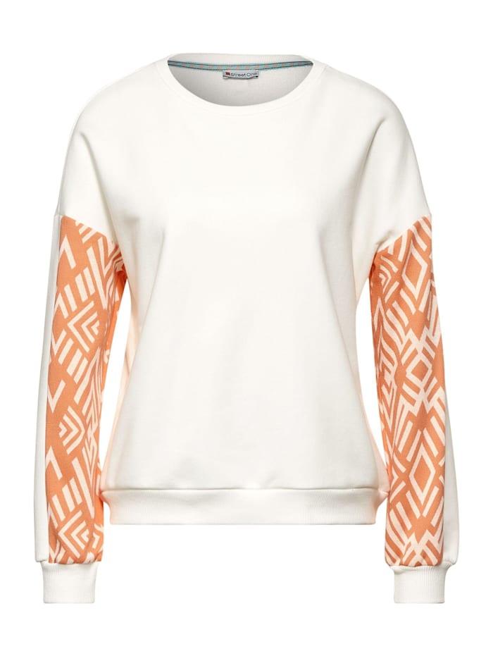 Street One Sweatshirt mit Dessin, off white