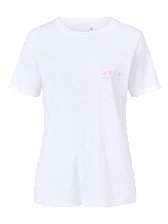 JUVIA T-Shirt mit Stickerei, Off-white