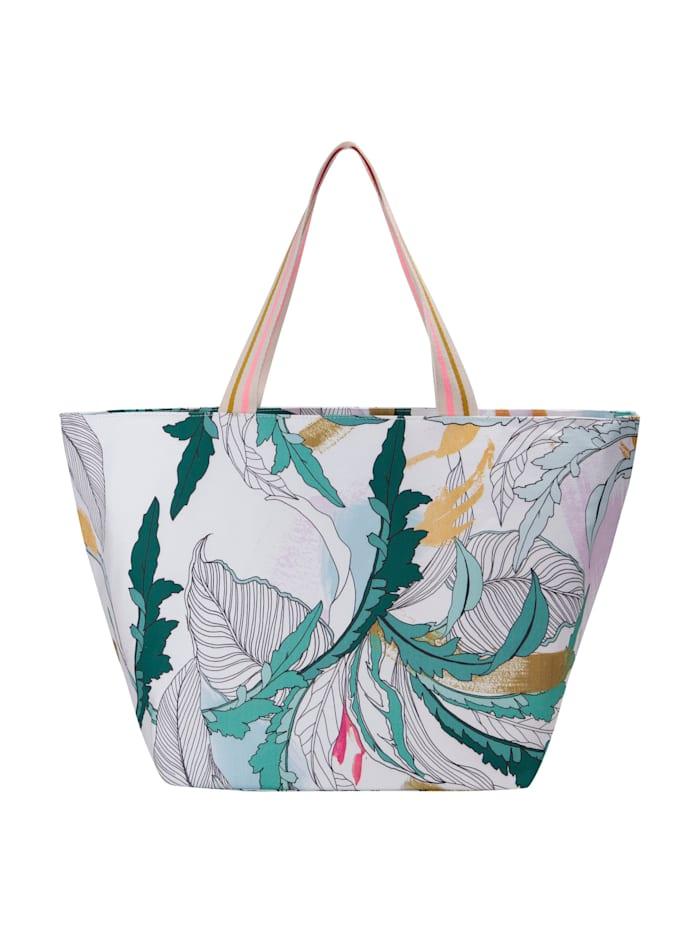 Canvas-Shopper mit dekorativem Blätter-Print