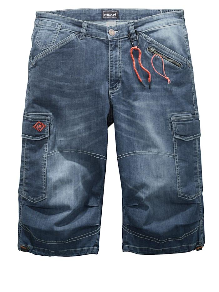 Men Plus Jeansshorts med flera praktiska fickor, Blue stone