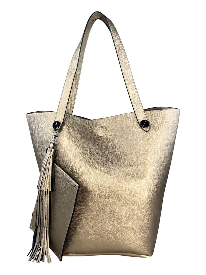 Große Schultertasche Mallorca mit vielen Gadgets mit kleiner separaten herausnehmbarer Tasche