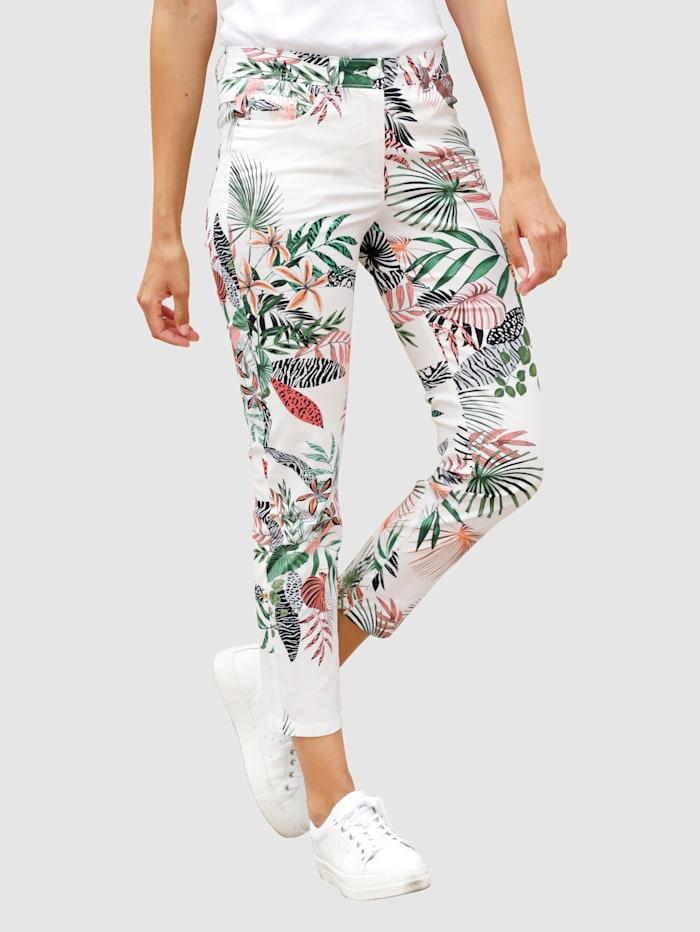 Laura Kent Kalhoty s květinovým vzorem, Bílá/Zelená