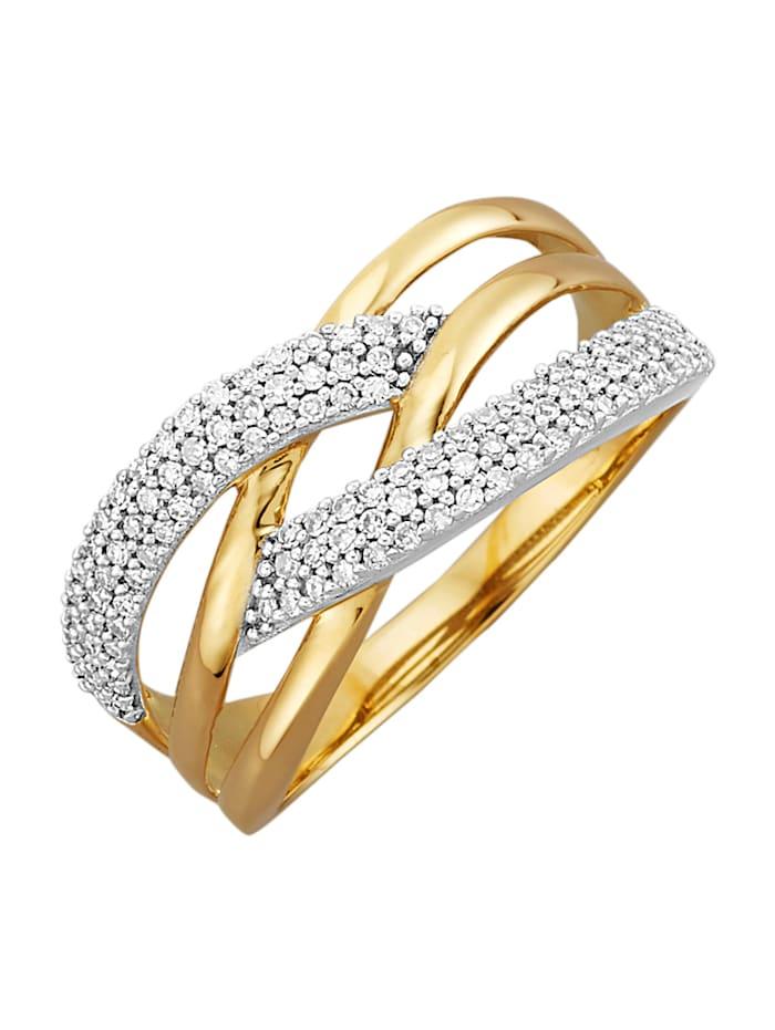 Amara Highlights Bague avec diamants, Coloris or jaune