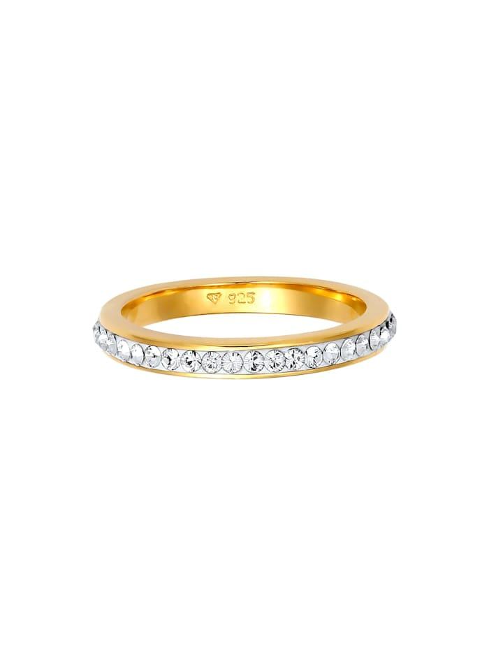 Ring Bandring Kristall 925 Silber